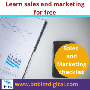 Sales and Marketing checklist